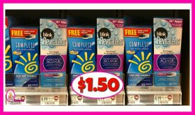 Complete and Blink RevitaLens Solution $1.50 (reg $8.99) at Publix!
