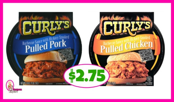Curly's Pulled Pork or Chicken $2.75 at Publix!