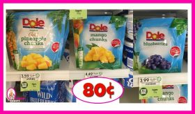 Dole Frozen Fruit 80¢ each at Publix!