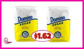 Domino Sugar 4lb just $1.62 each at Publix!