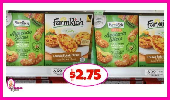 FarmRich Appetizers $2.75 each box at Publix!