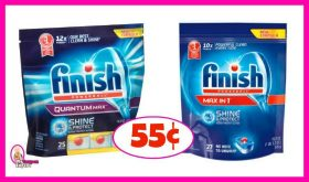 Finish Dish Detergent just 55¢ at Publix!!