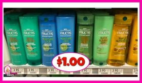 Garnier Fructis Hair Products $1.00 at Publix!