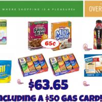 Publix Gas Card Scenario pay $63.65 INCLUDING a $50 Gas Card!