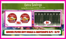 Publix GREEN FLYER DEALS & Matchups 8/4 – 8/17