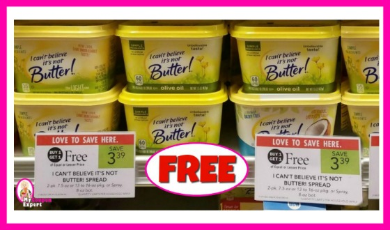 I Can't Believe Its Not Butter Coconut Spread FREE at Publix!