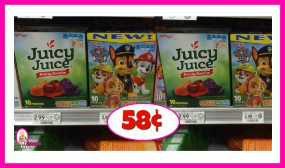 Kellogg's Fruit Snacks 58¢ each at Publix!