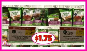 MorningStar Farms Entrees $1.75 at Publix!