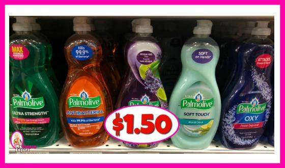 Palmolive Dish Liquid, 32.5 oz just $1.50 at Publix!