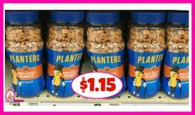 Planters Peanuts jars or cans $1.15 at Publix!