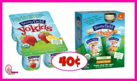 Stonyfield YoBaby Multi Packs 40¢ each at Publix!
