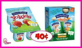 Stonyfield YoBaby Yogurt 40¢ after Coupons & Ibotta at Publix!