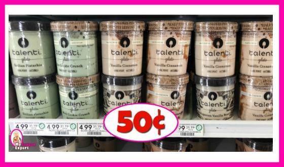 Talenti Gelato 50¢ each at Publix NOW!
