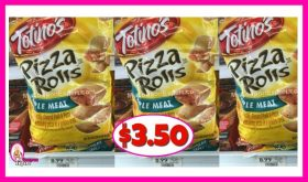 Totino's Pizza Rolls BIG BAGS $3.50 each (reg $8.99)!