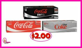 Coke 12 packs as low as $2.00 at Publix!