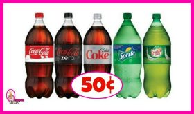 Coca-Cola 2 liters as low as 50¢ each at Publix!