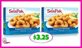 Seapak Shrimp, Clam Strips or Crab Cakes $3.25 at Publix!