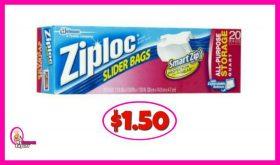 Ziploc Slider Bags $1.50 at Publix!