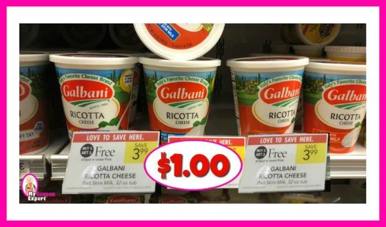 Galbani Ricotta Cheese 32 oz $1.00 each at Publix!