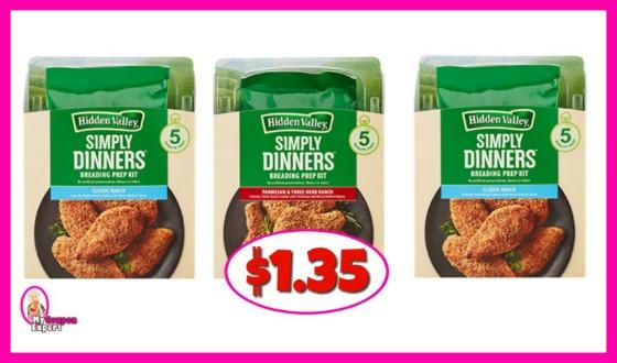 Hidden Valley Simply Dinner Kits $1.35 at Publix!