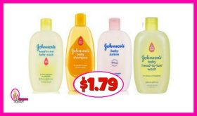 Johnsons Baby Wash & Shampoo $1.79 at Publix!