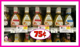 Ken's Salad Dressings 75¢ each at Publix!