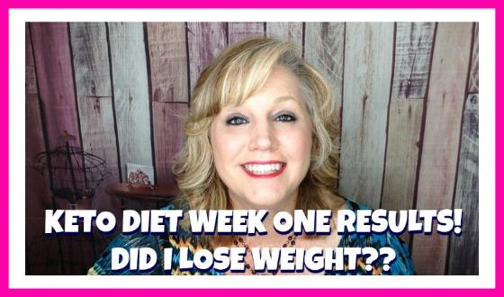 KETO DIET WEEK ONE VIDEO UPDATE & WEIGH IN!