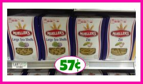 Mueller's Pasta just 57¢ at Publix!