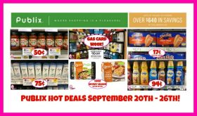 Publix HOT DEALS September 20th – 26th!!
