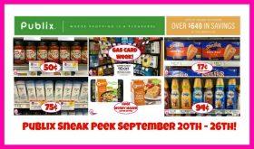 Publix SNEAK PEEK September 20th – 26th!!