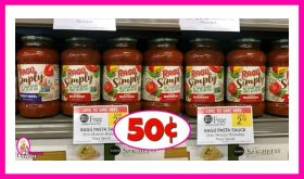 Ragu Pasta Sauce 50¢ each at Publix!  MM if your ad starts Wednesday!