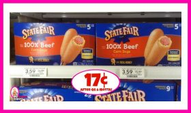 State Fair Corn Dogs 17¢ each after Coupons & Ibotta at Publix!