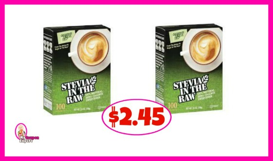Stevia In The Raw, 100 count $2.45 at Publix!