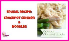 Easy Crock Pot Chicken and Noodles so delicious!