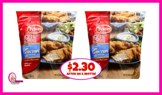 Tyson Chicken as low as $2.30 per bag at Publix!!