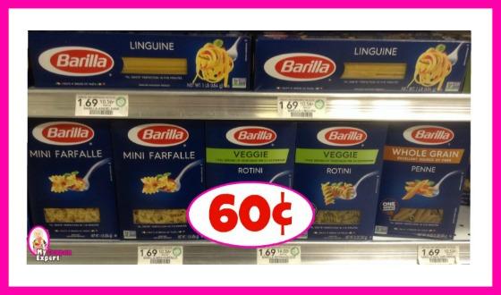 Barilla Pasta Blue Box 60¢ each at Publix!