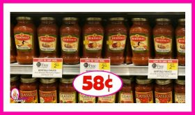 Bertolli Sauce 58¢ at Publix!