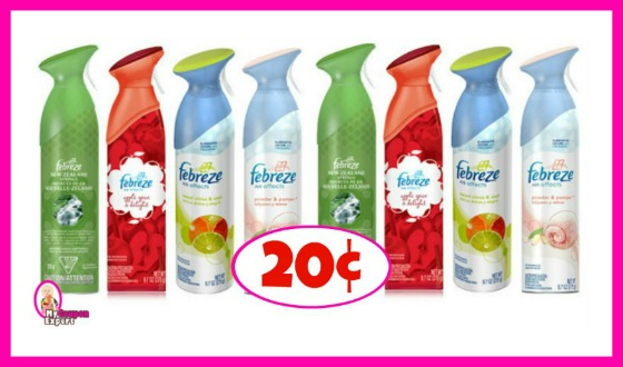 Winn Dixie Hot Deal Alert! Febreze Spray 20¢ each!!