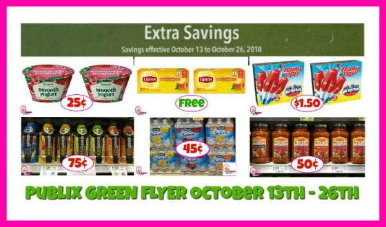 Publix GREEN FLYER DEALS October 13th – 26th!