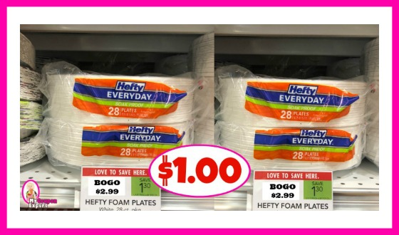 Hefty Plates $1.00 each pack at Publix!