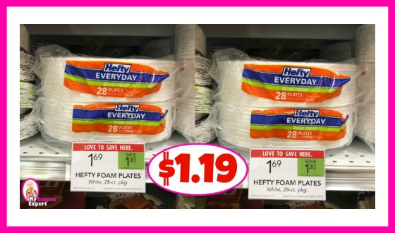 Hefty Plates $1.19 at Publix!!