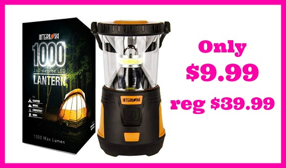 HOT DEAL ALERT! 1000 LED Camping Lantern $9.99 (reg $39.99)!