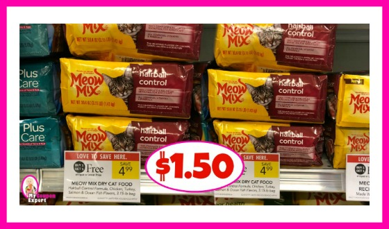 Meow Mix Dry Cat Food $1.50 at Publix!