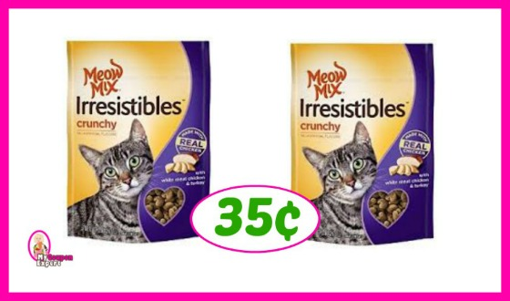 Meow Mix Irresistibles 35¢ each at Publix!