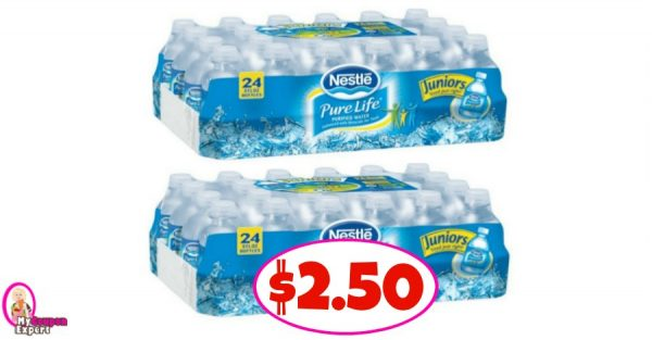 3c3fe2d6aa Nestle Pure Life Water, 24 pack, 8 oz bottles - 2/$6.00 (sale price) $.50/1 Nestle  Pure Life Water, 24pk, 8 oz Publix Digital Mfg Coupon CLIP HERE