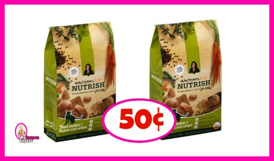 Rachael Ray Nutrish Dry Cat Food 3lb bag 50¢ each at Winn Dixie!