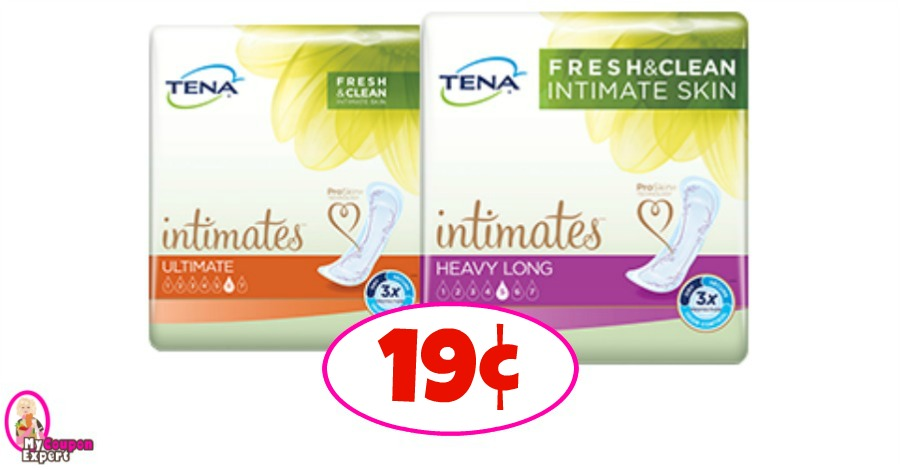 Publix Hot Deal Alert! Tena Pads just 19¢ starting March 14th!