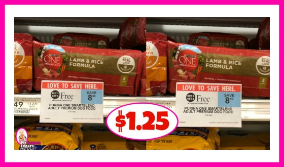 Purina One Smartblend Dog Food $1.25 at Publix!