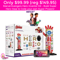 Only $99.99 (reg $149) Marvel Avengers Hero Inventor Kit! Cool!
