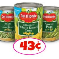 Del Monte Veggies just 43¢ per can at Publix NOW through 11/21!